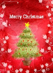 手繪圣誕節海報素材圖片