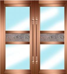 铜金属门设计