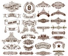 欧式复古标签花纹边框图片