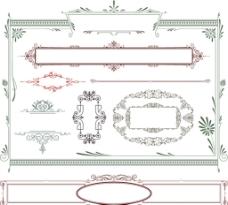 欧式婚礼边框花纹图片