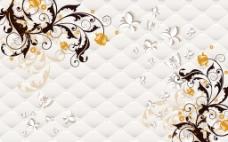 花纹底纹 3D 背景墙