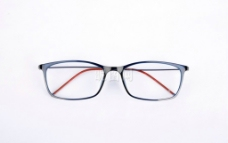 蓝框眼镜图片