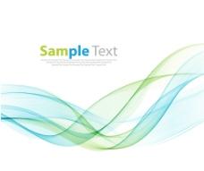 抽象的彩色波设计矢量插图图片