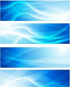 蓝色背景banners图片