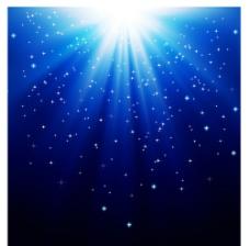 蓝色魔法光背景图片