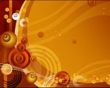 橙色花纹视频素材