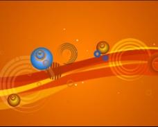 橙色动态视频素材