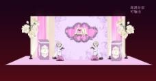 粉色浪漫婚礼场景效果图
