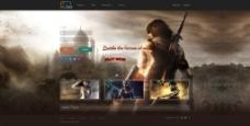 游戏运营平台首页设计