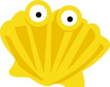 貝殼卡通圖片