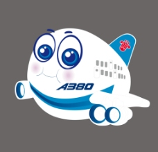 卡通飞机A380图片
