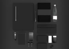 黑色调VI模板图片