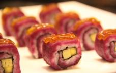 紫薯寿司图片
