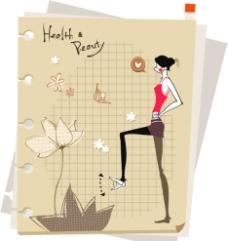 卡通时尚女人背景图片