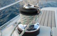 帆船局部特写图片