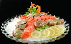 三文鱼拼鹅肝图片