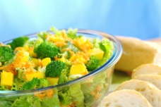 西兰花蔬菜沙拉食物图片