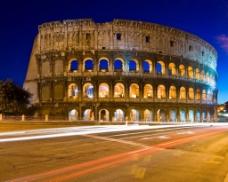 罗马夜景大张淘宝海报背景素材