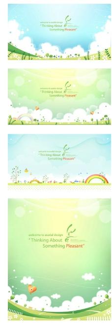清新绿色背景图片