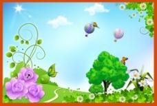自然美景之热气球