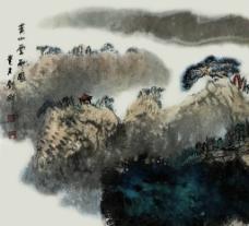 黄山云雨图片