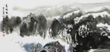 青城观瀑图图片