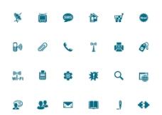 蓝色多媒体图标图片