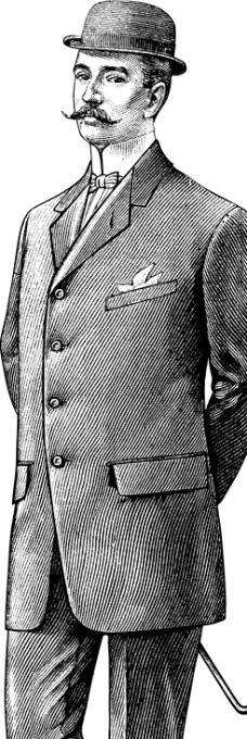 绅士衣服简笔画