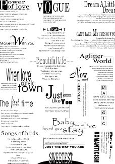 英文字体排版设计