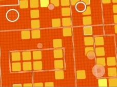 橙色动画设计视频素材