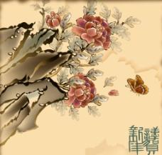 蝴蝶牡丹图片