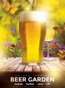 国外酒吧海报高清PSD分层素材图片