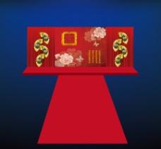 中式婚庆背景
