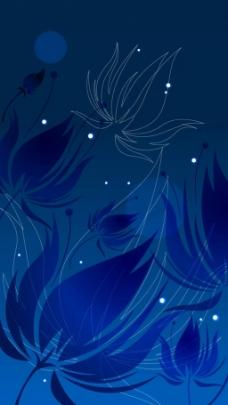 蓝色渐变闪星背景图