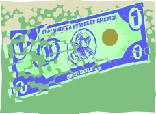钱币美金商业图案