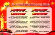 天安门背景红色版面图片