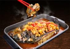 碳烤活鱼图片