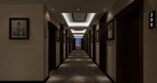 酒店中式走道图片