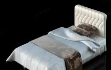 3D单人床模型(MAX 3D模型)