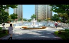 休闲水景广场