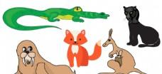 卡通動物 狐貍圖片