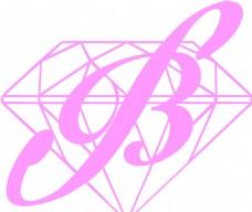唯美  B钻石 logo