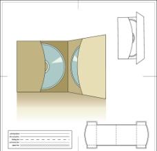 光盘包装纸盒图片