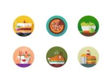 扁平化食物图标图片