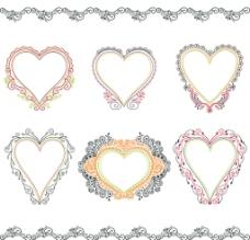 欧式心形花纹图片
