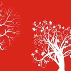 红色发财树 无框画