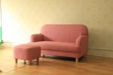 粉色沙发素材下载