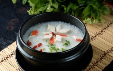 蟹柳豆腐粥图片