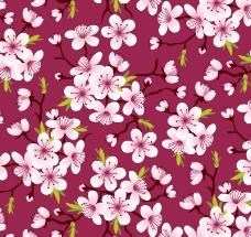 盛开的樱花无缝背景