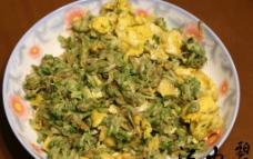 洋槐花炒鸡蛋图片